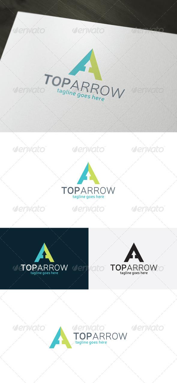 Top Arrow Logo — Letter A - Letters Logo Templates