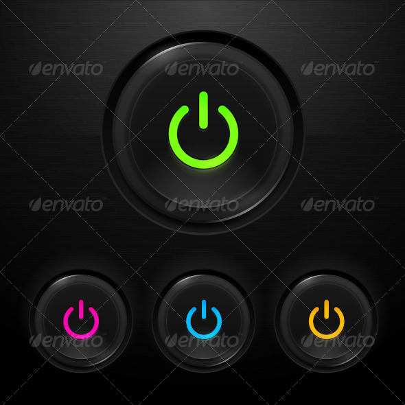 Power Buttons - Technology Conceptual