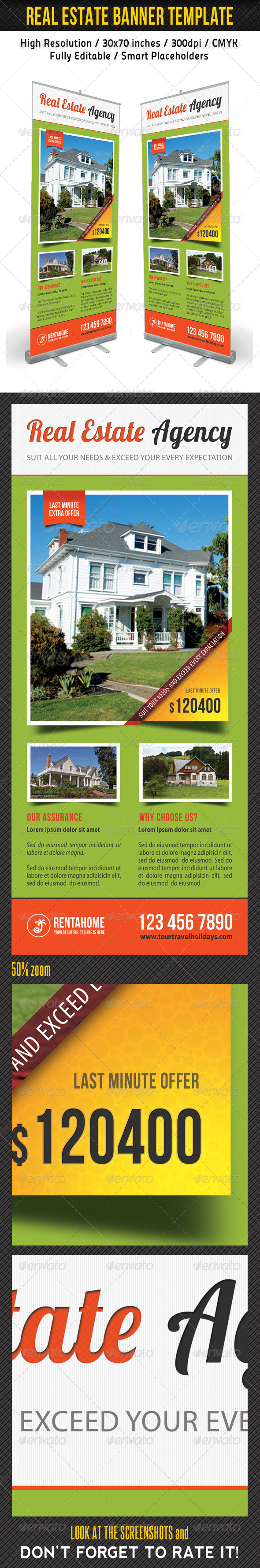 Real Estate Banner Template 04 - Signage Print Templates