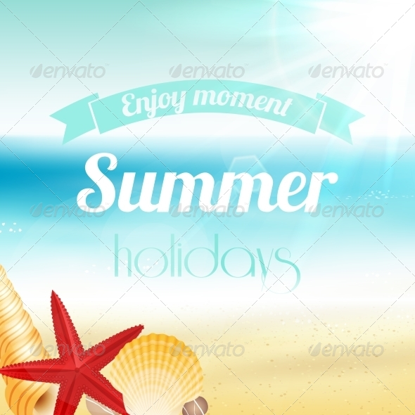Summer Holiday Vacation Poster - Backgrounds Decorative