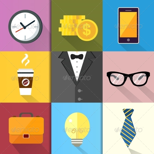 Business Suits Icons Set - Business Icons