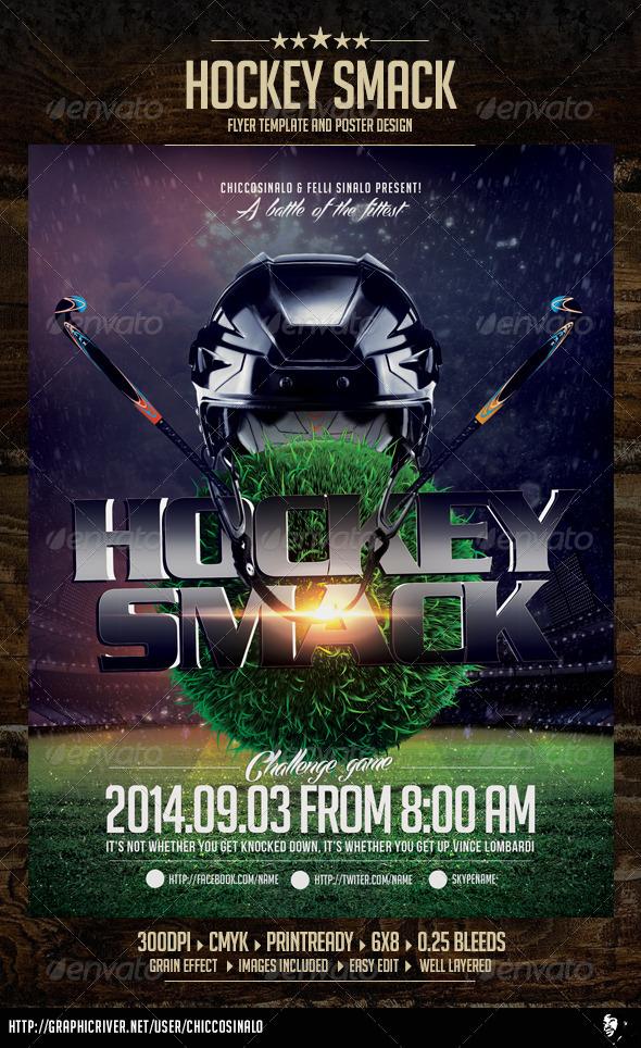 Hockey Smack Flyer Template By Chiccosinalo Graphicriver