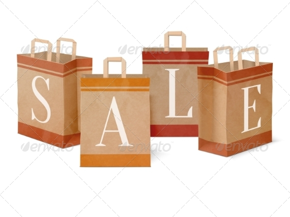 Sale Paper Shopping Bags - Retail Commercial / Shopping