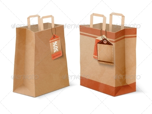 Shopping Paper Bags - Retail Commercial / Shopping