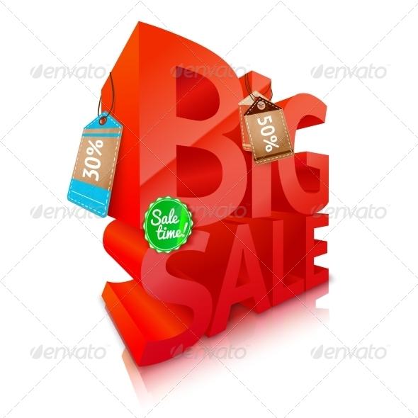 Big Sale Text Emblem - Retail Commercial / Shopping