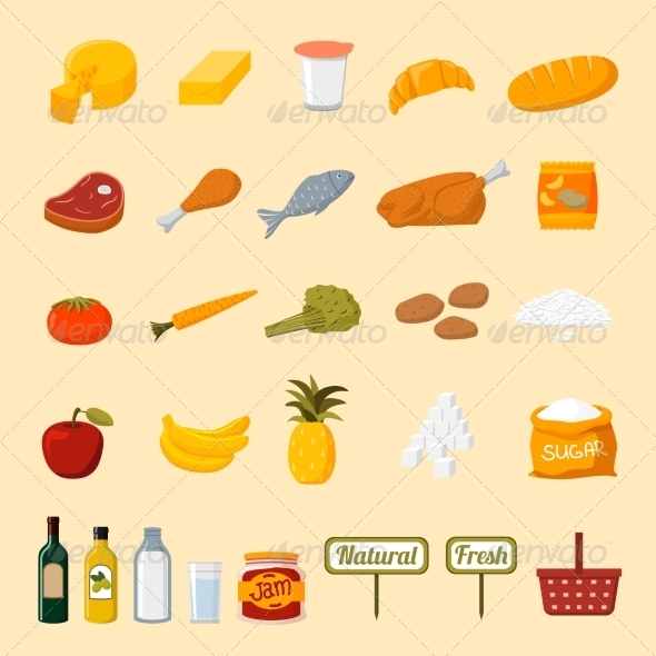 Supermarket Food - Food Objects