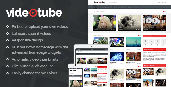 VideoTube - A Responsive Video WordPress Theme - Blog / Magazine WordPress