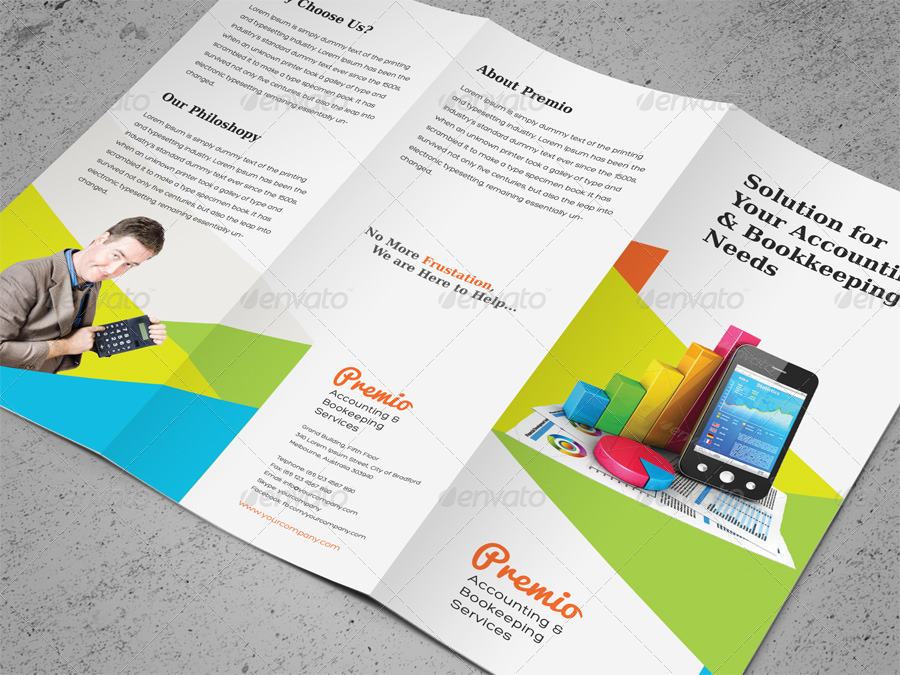 Accounting & Bookkeeping Services Trifold Brochure By Kinzi21