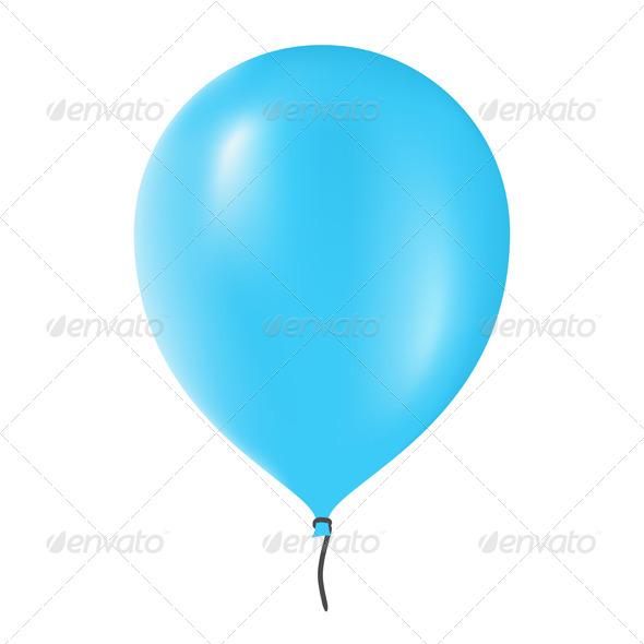 Blue Balloon - Objects Vectors