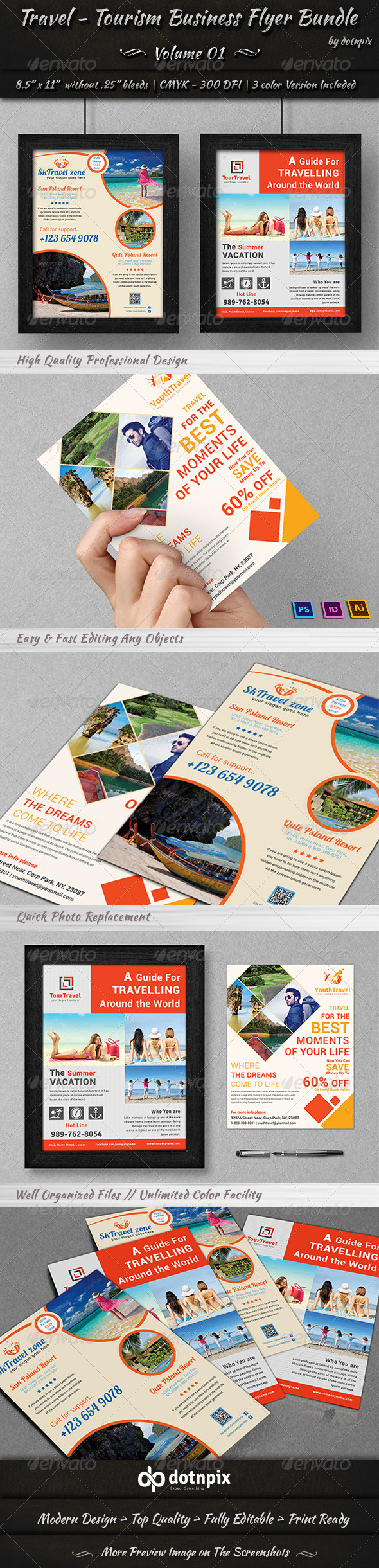 Travel / Tourism Business Flyer Bundle | Volume 1 - Corporate Flyers