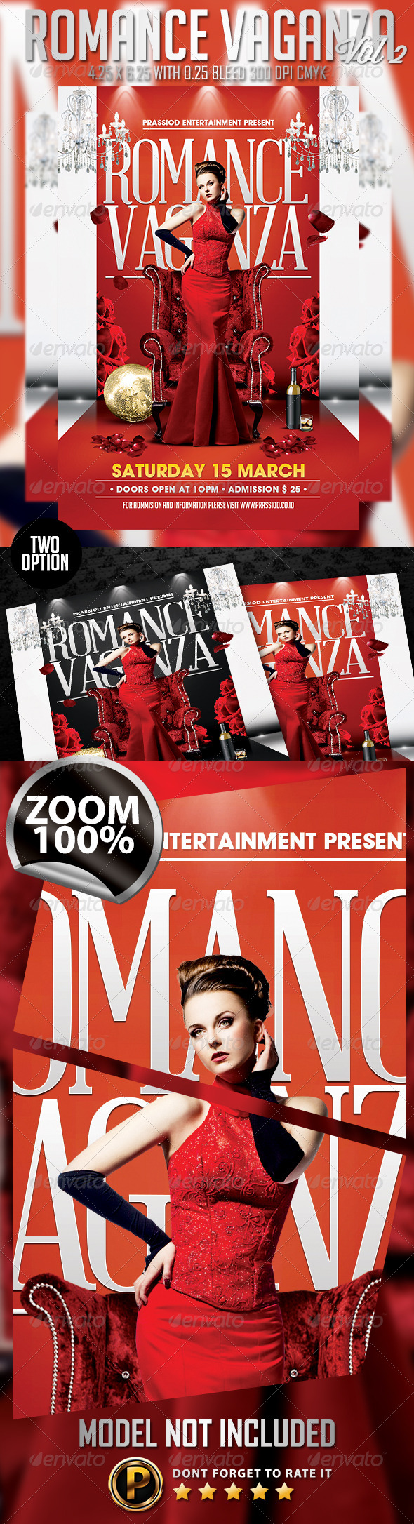 Romance Vaganza Flyer Template Vol 2 - Clubs & Parties Events