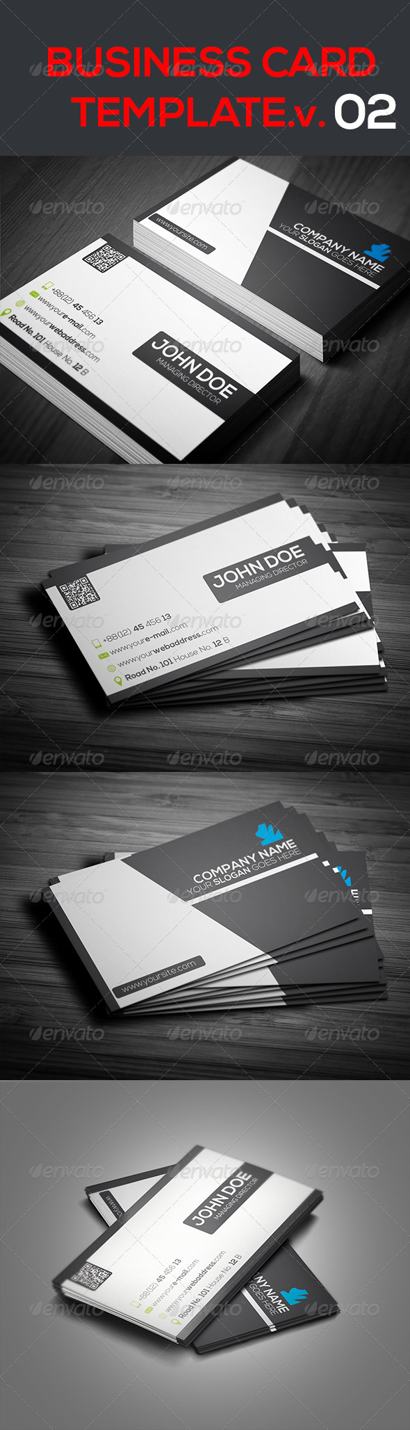 Creative Business Card Template.V.02 - Creative Business Cards