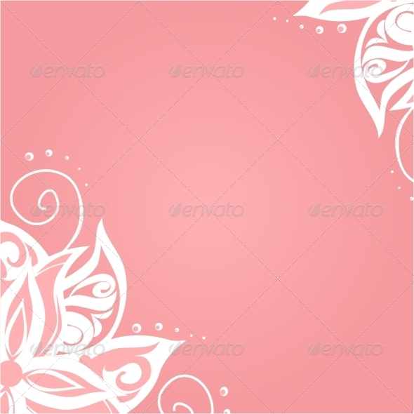 Background with Floral Pattern - Backgrounds Decorative