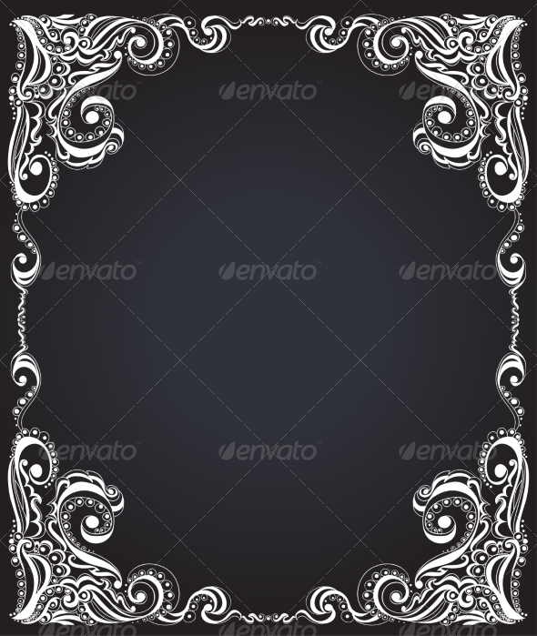 Template Frame Design for Card Floral Pattern - Backgrounds Decorative