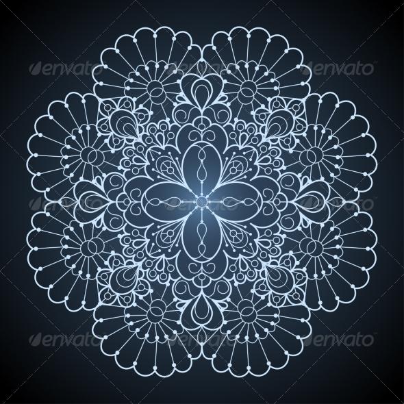 Ornamental Round Lace Pattern - Backgrounds Decorative