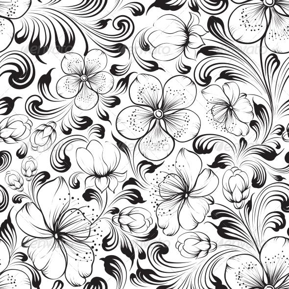 Sakura Seamless Pattern - Patterns Decorative