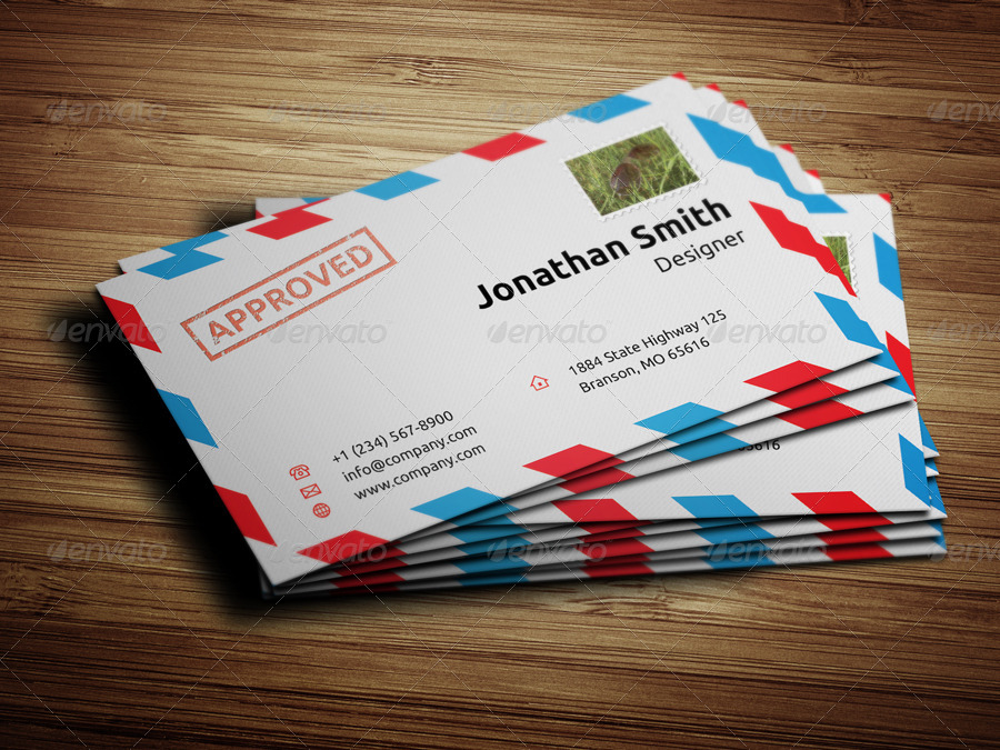 Envelope Style Business Card - 33 by nazdrag | GraphicRiver