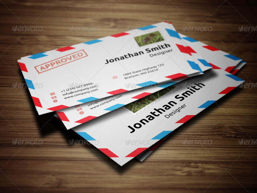 Envelope style business card 33 by nazdrag graphicriver envelope style business card 33 reheart Choice Image