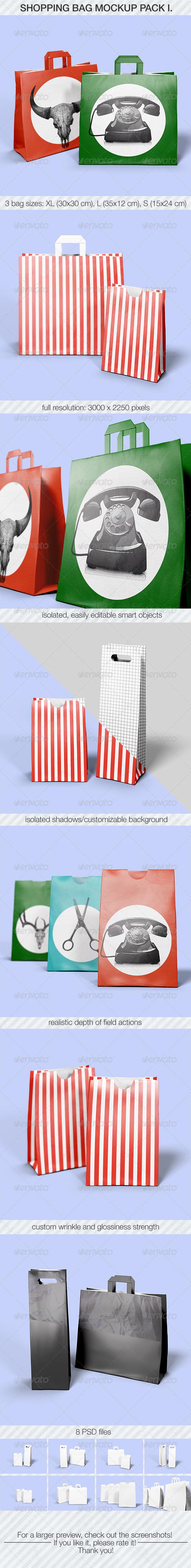 Shopping Bag Mockup Pack I. - Miscellaneous Product Mock-Ups