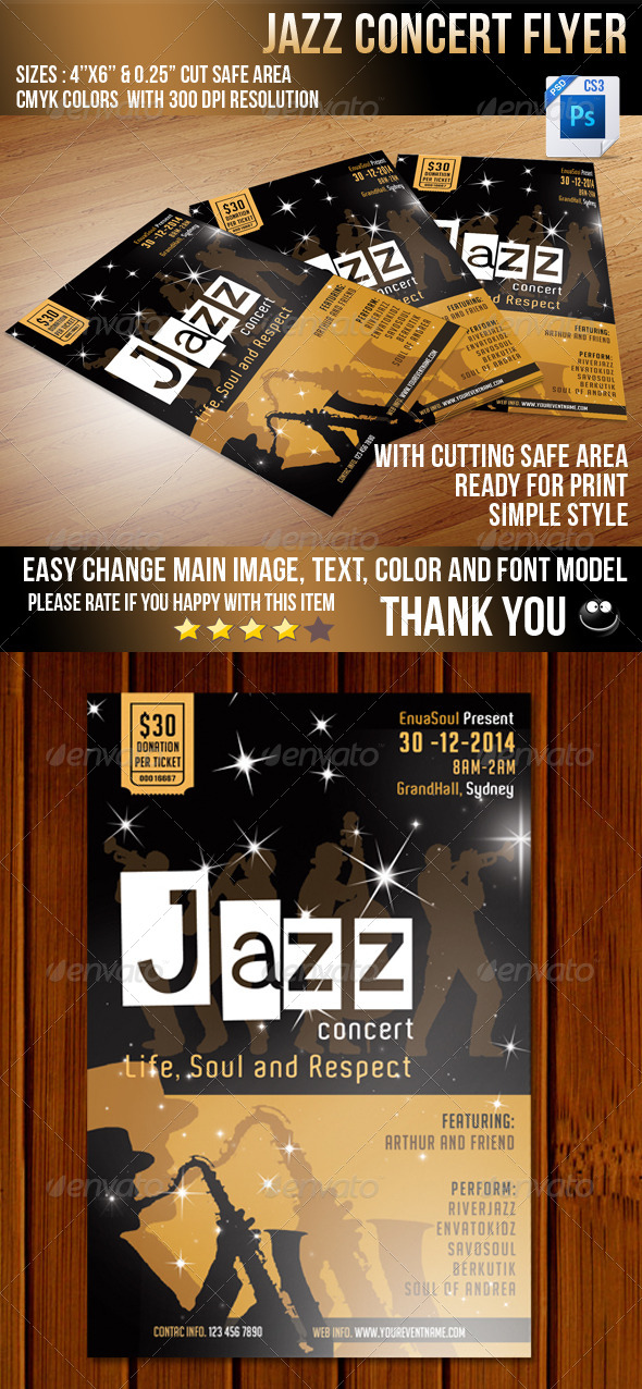 Jazz Concert Flyer V2 - Concerts Events