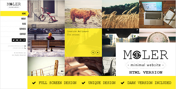 Moler – Full Screen Portfolio Template