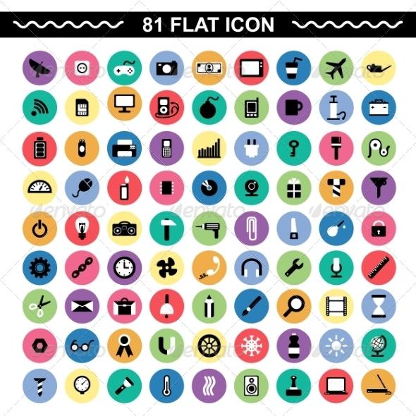 Flat Icons - Communications Technology