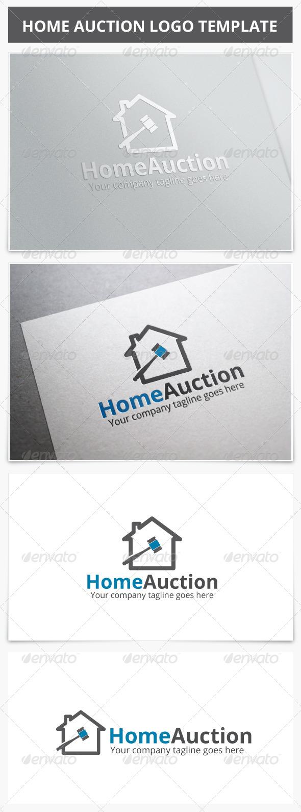 Home Auction Logo - Buildings Logo Templates