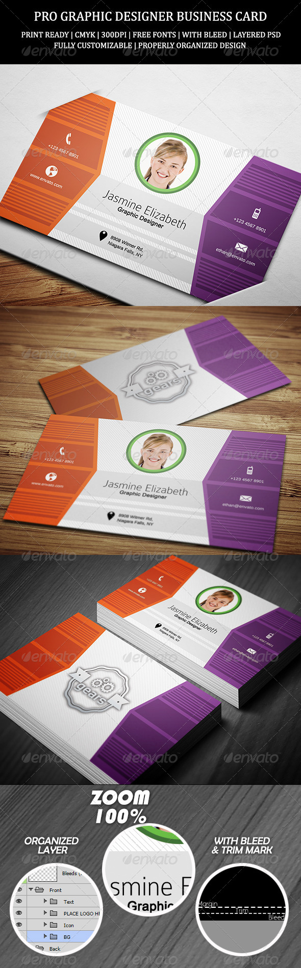 Pro Graphic Designer Business Card - Creative Business Cards