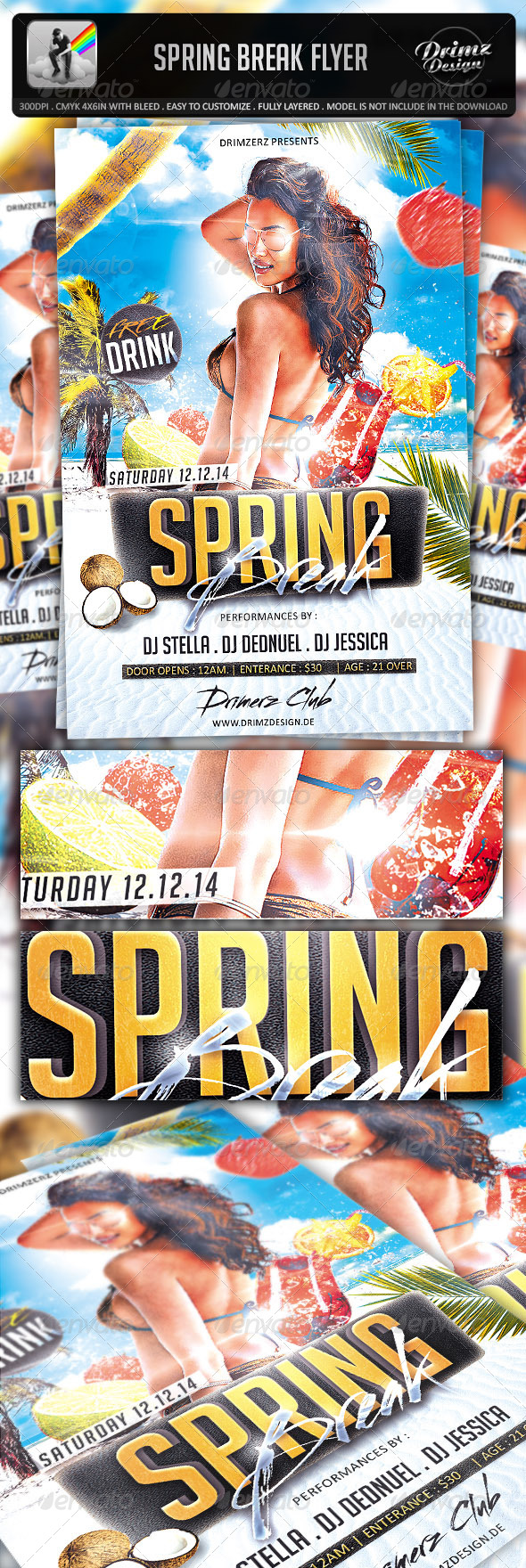 Spring Break Flyer - Events Flyers