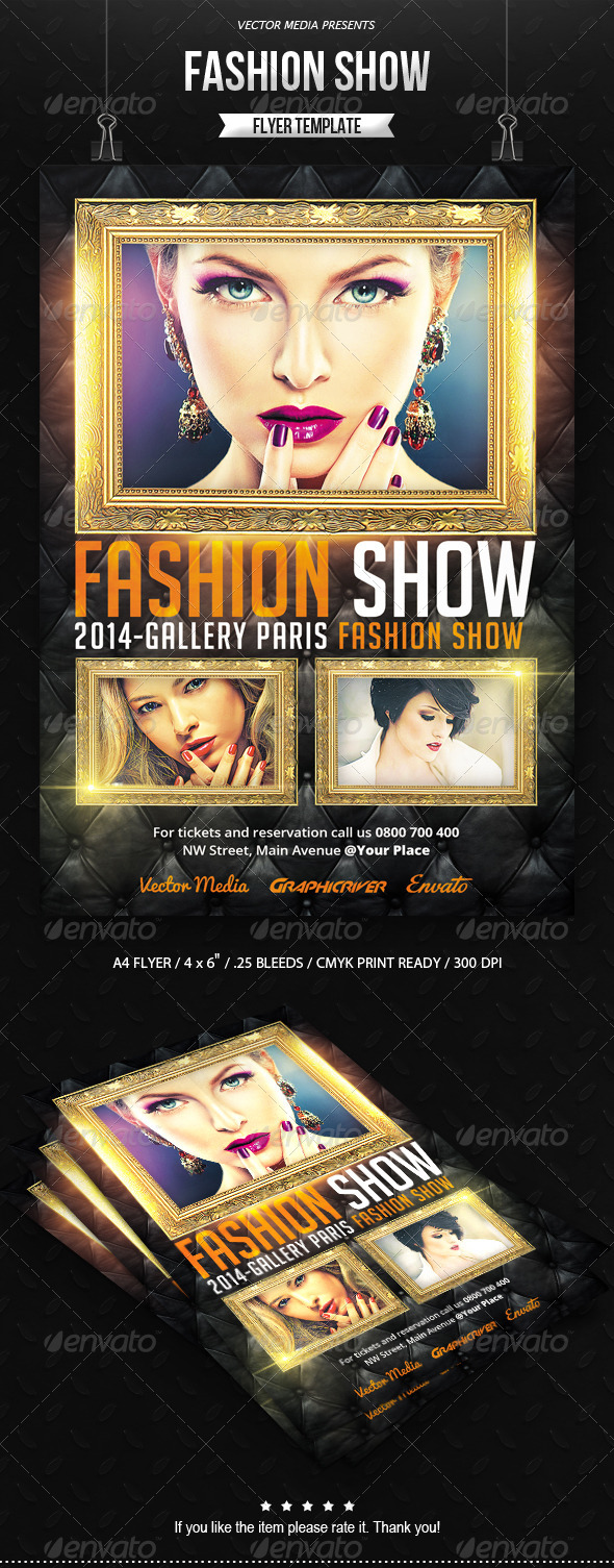 Fashion Show - Flyer - Miscellaneous Events