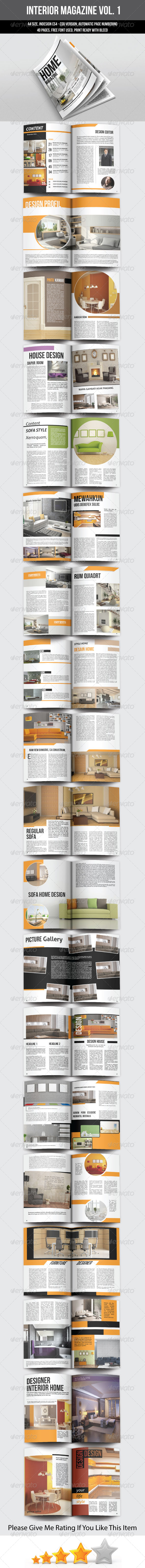 A5 Portrait Interior Magazine Template - Magazines Print Templates