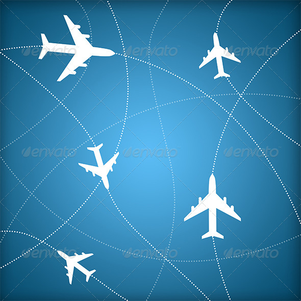 Air Traffic Control - Objects Illustrations