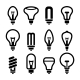Light Bulbs Bulb Icon Set 2 Vector - GraphicRiver Item for Sale