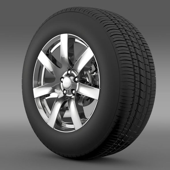 Jeep Wrangler Indian Summer 2014 wheel - 3DOcean Item for Sale