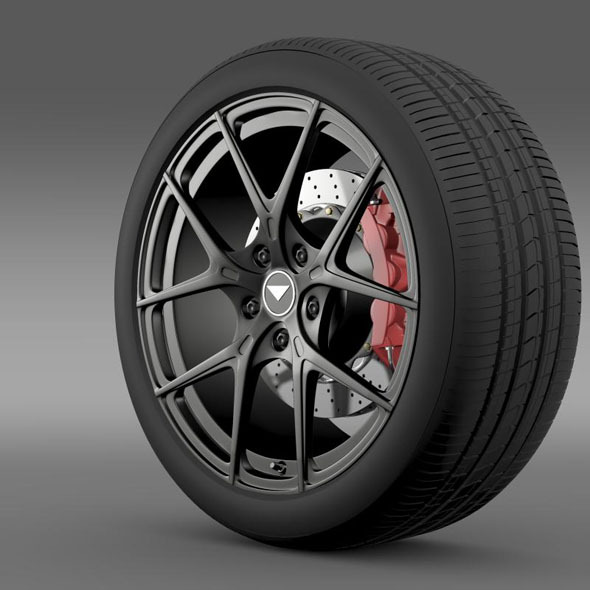 Porsche 991 V GT 2014 wheel - 3DOcean Item for Sale