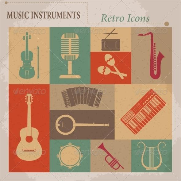 Musical Equipment - Web Elements Vectors