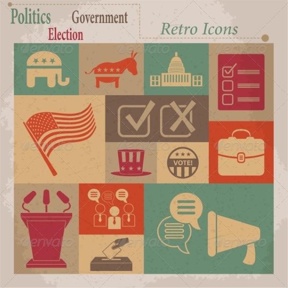 Election Icons - Web Elements Vectors