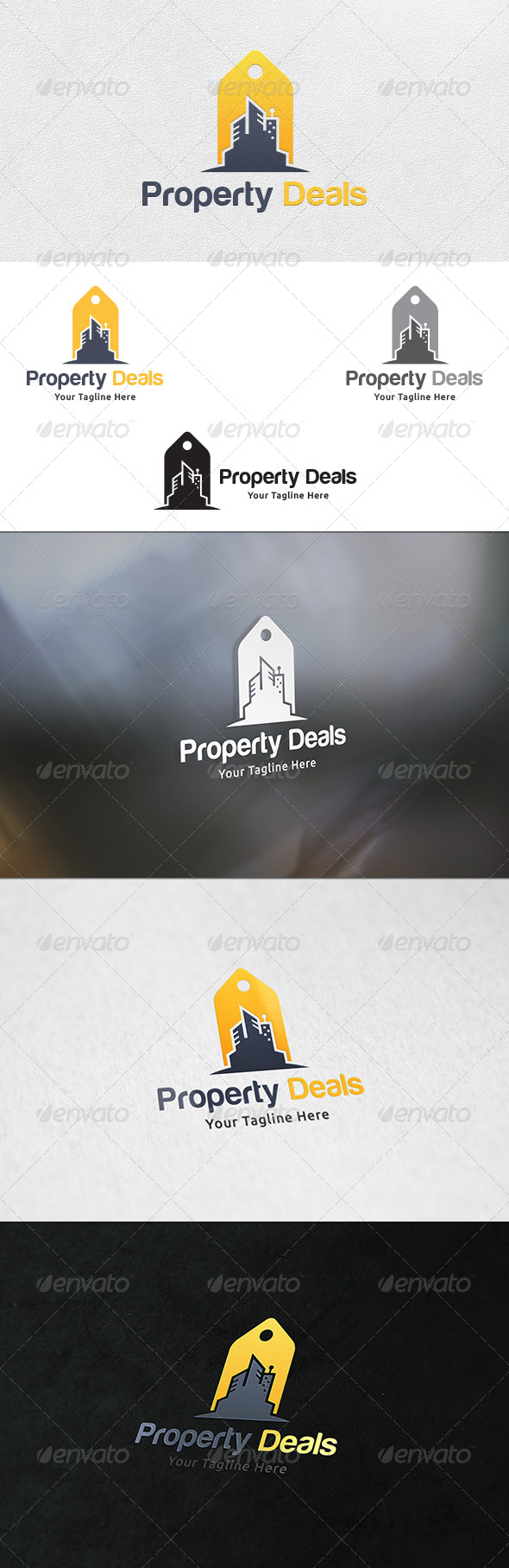 Property Deals - Logo Template - Buildings Logo Templates