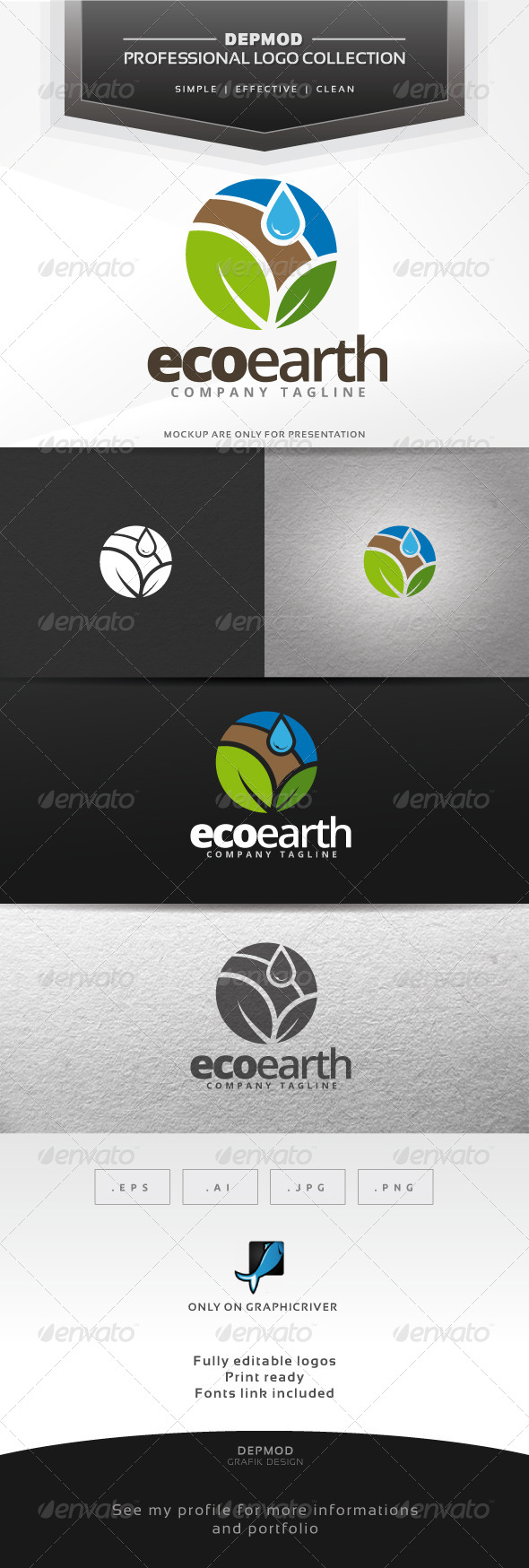 Eco Earth Logo - Nature Logo Templates