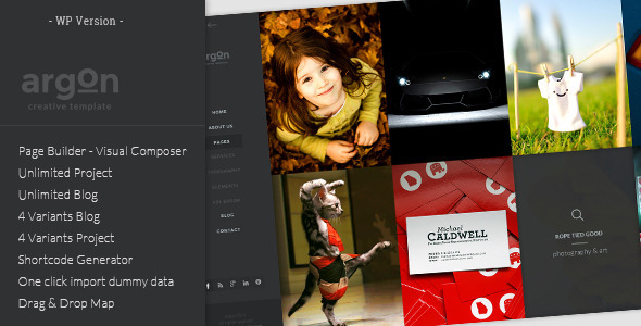 Argon – Full Screen Portfolio & Blog WP Theme