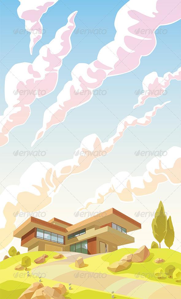 Modern Villa  - Buildings Objects