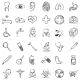 Vector Set of Sketch Medical Icons