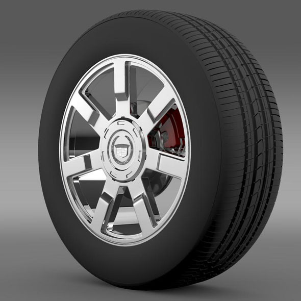 Cadillac Escalade esv 2wd1 wheel - 3DOcean Item for Sale