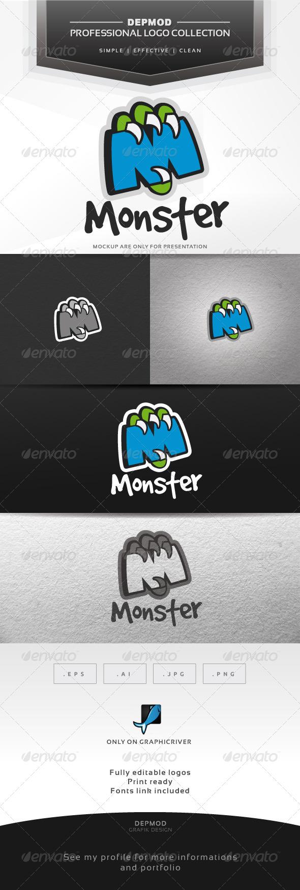 Monster Logo - Letters Logo Templates