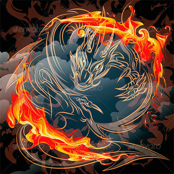 The Fire Dragon - Monsters Characters