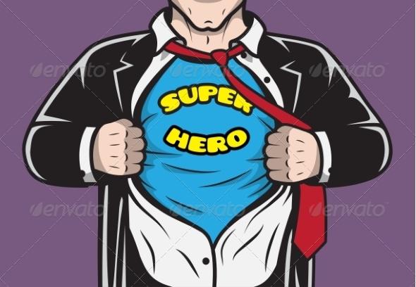 Disguised Hidden Comic Superhero Businessman - Concepts Business