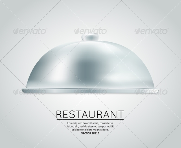 Restaurant Cloche Food Tray - Borders Decorative