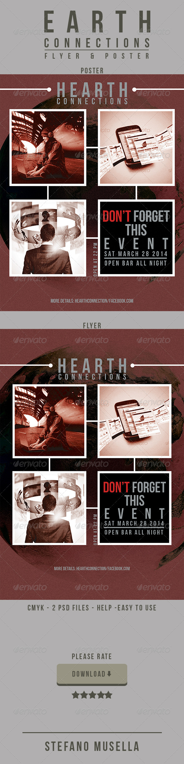 Heart Connections Poster and Flyer  - Print Templates