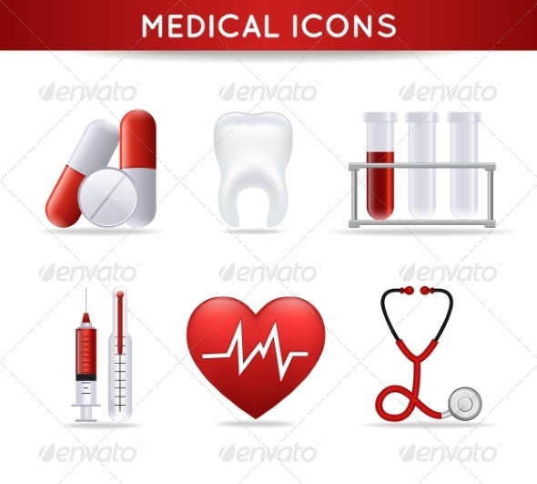 Health Care Medical Icons Set - Health/Medicine Conceptual