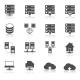 Hosting Technology Pictograms Set - GraphicRiver Item for Sale